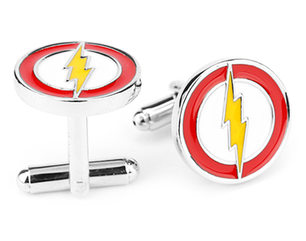 flash super hero cufflinks
