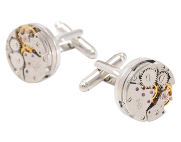 mechanical working gears cufflinks